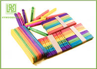 Wooden Stained Colored Flat Craft Sticks With Various Size And Color