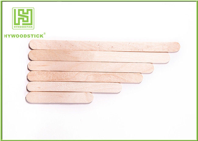 Sterile Round Ice Cream Wooden Sticks 114 * 10 * 2mm Food Grade