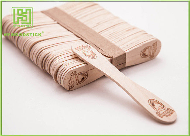 Customize Shape Ice Cream Wooden Sticks With Hot-Stamping Logo Well Polished