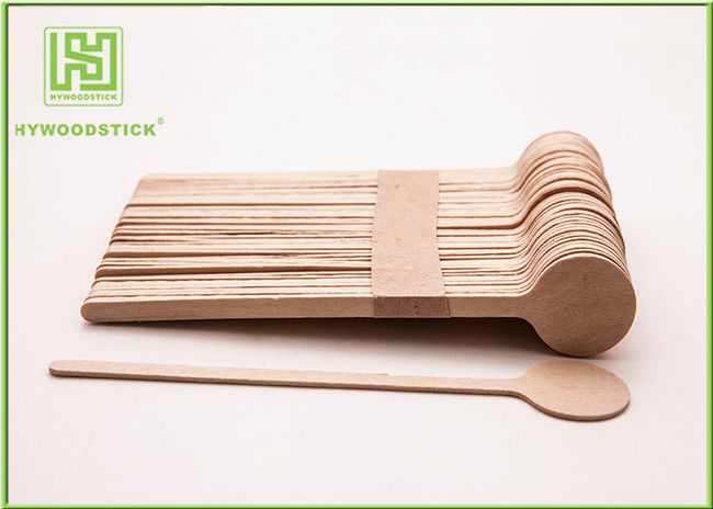 Customized Logo Printed Wooden Coffee Stirrer Sticks Wooden Coffee Spoon 1000pcs / Box