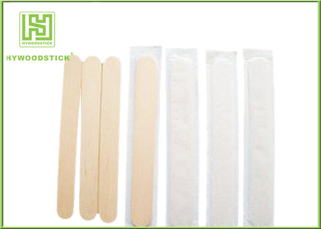 Customized Size Wooden Tongue Depressor Oral Check Flat Wooden Sticks