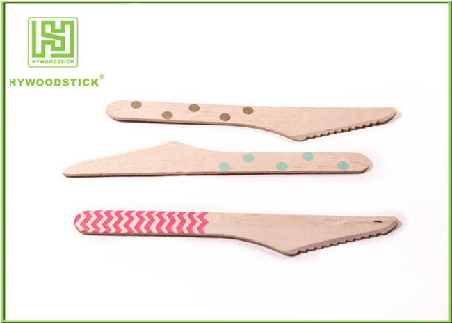 Birch Wood Eco Friendly Cutlery Biodegradable Tableware For Butter Cake