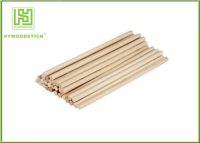 Odorless Wooden Marshmallow Sticks , Thick Hot Dog Sticks For BBQ Shop