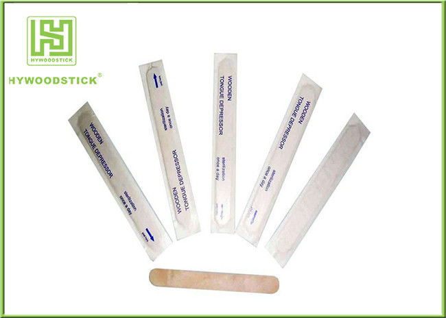 Natural Color Wooden Waxing Spatulas Mini Tongue Depressors For Hospital